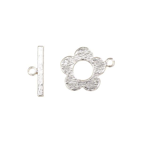 Jewellery Made by Me Knebelverschluß Blume silber 22mm