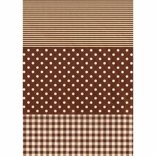 décopatch Papier Muster braun-weiß 3 Bogen