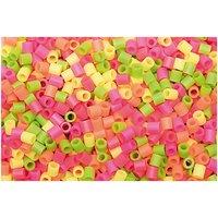 Made by Me Bügelperlen neon Mix 5x5mm ca. 1000 Stück