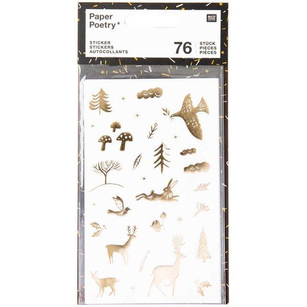 Paper Poetry Sticker Nostalgic Christmas weiß 76 Stück