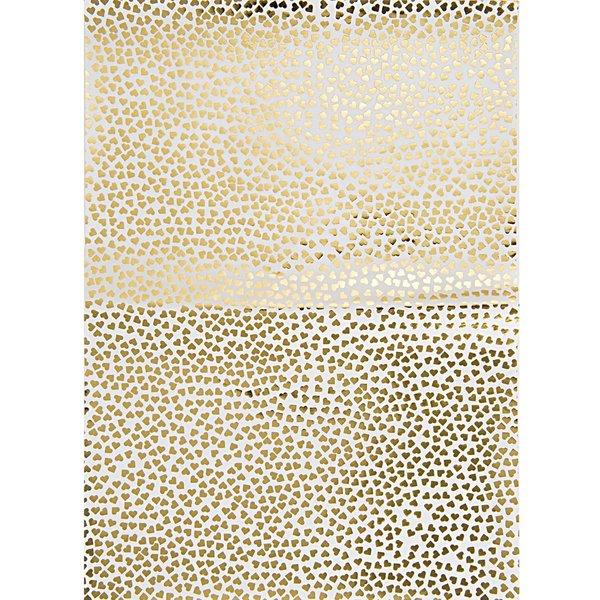 Rico Design SB Paper Patch Papier Herzen gold 30x42cm 3 Bogen Hot Foil