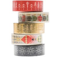 Paper Poetry Tape Set gold-rot 1,5cm 10m 5 Stück