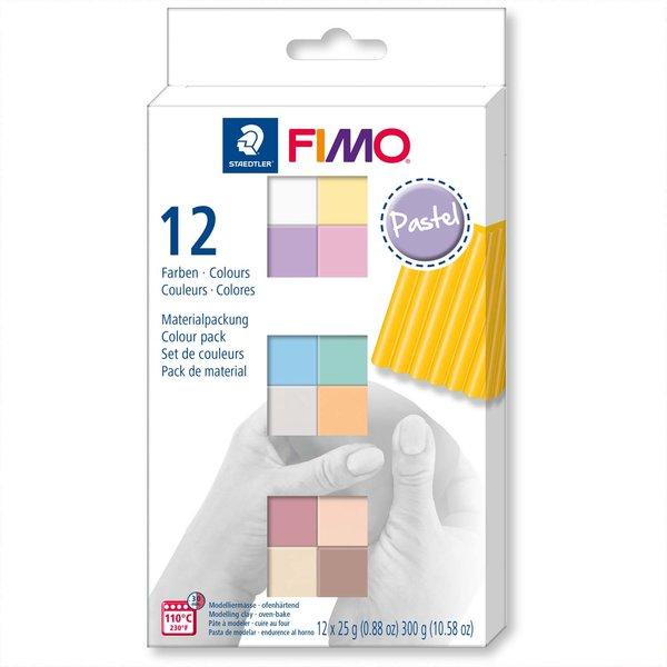 Staedtler FIMO soft pastell 12 Halbblöcke je 25g