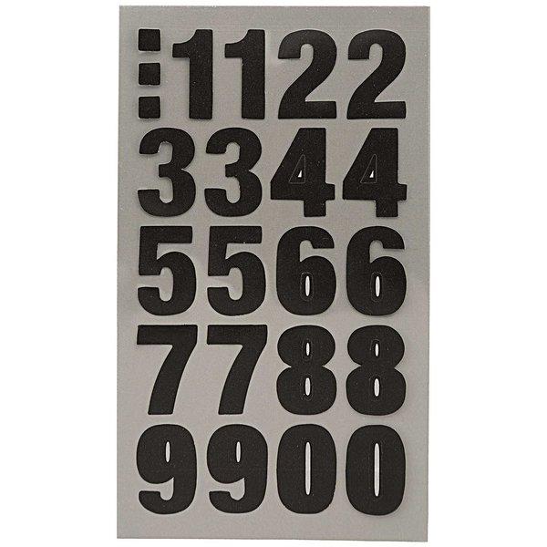 Paper Poetry Office Sticker Zahlen schwarz 4 Bogen