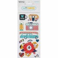 DECOHOBBY Scrapbooking Sticker Happy Camper 6 Bogen