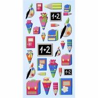 HobbyFun SoftySticker Schule/Einschulung mehrfarbig 17,5x9cm