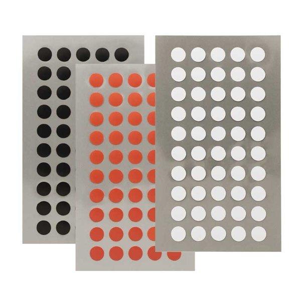 Rico Design Office Sticker Punkte 8mm 4 Bogen