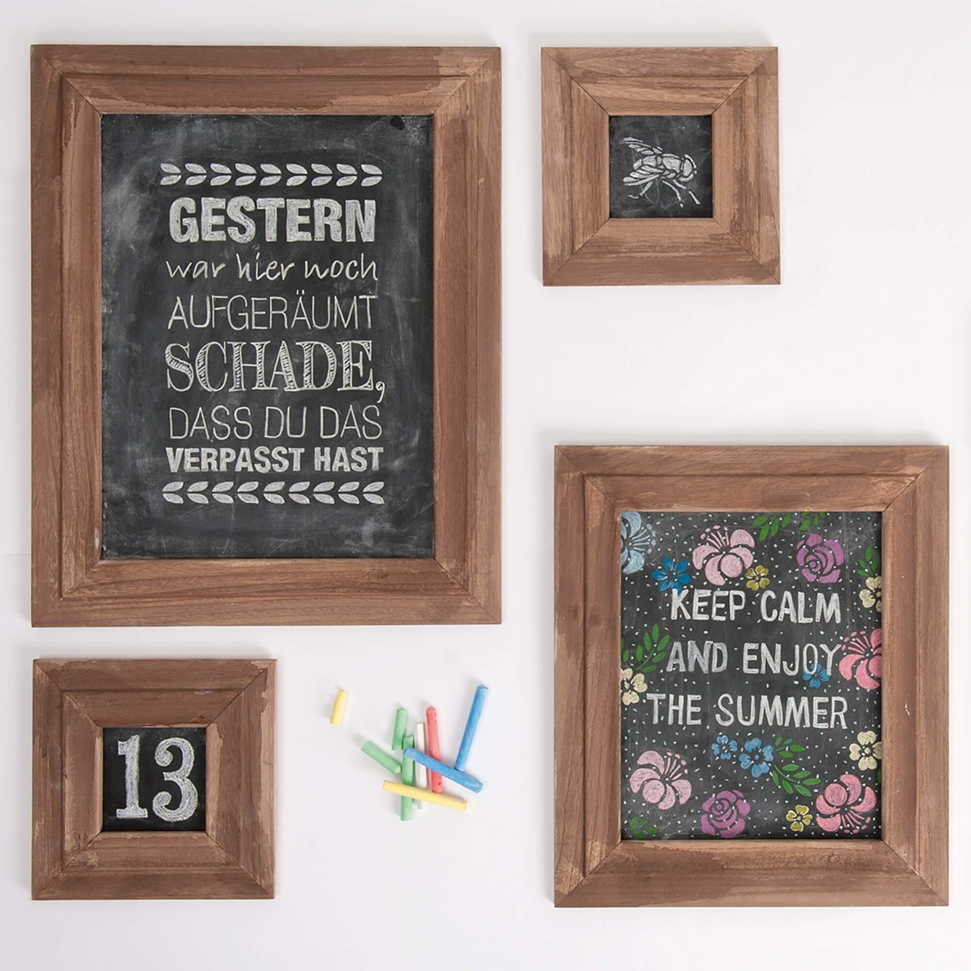 Kreidetafeln basteln aus Bilderrahmen » Kostenlose Anleitung lesen
